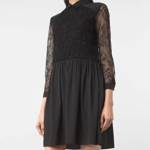 All Saints Nia Black Lace Dress